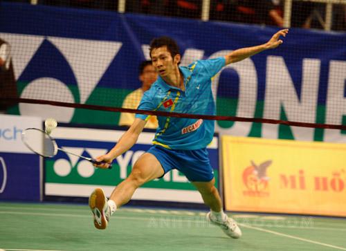 Tiến Minh thi đấu xuất sắc trong trận bán kết