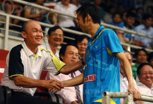 Các lãnh đạo TP đến xem Tiến Minh thi đấu