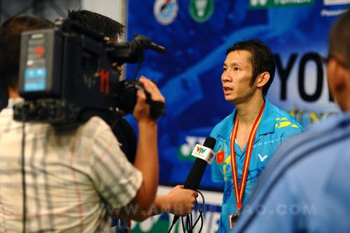 Đài truyền hình VTV phỏng vấn Tiến Minh sau trận đấu