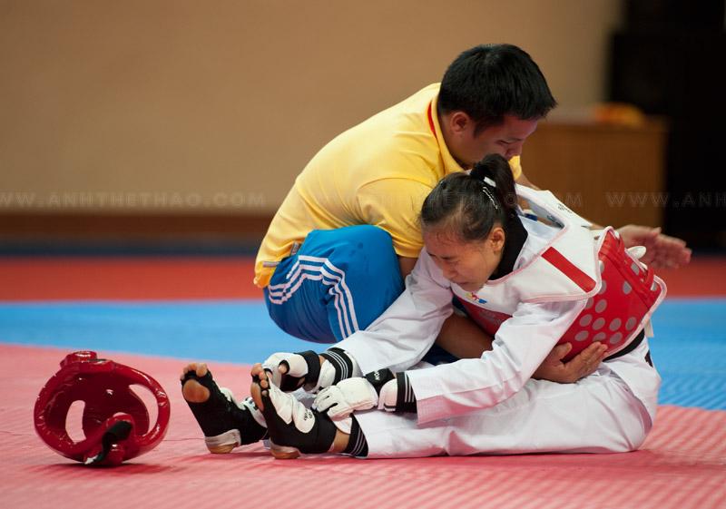 Cao Thị Kim Chi bị chấn thương khá nặng