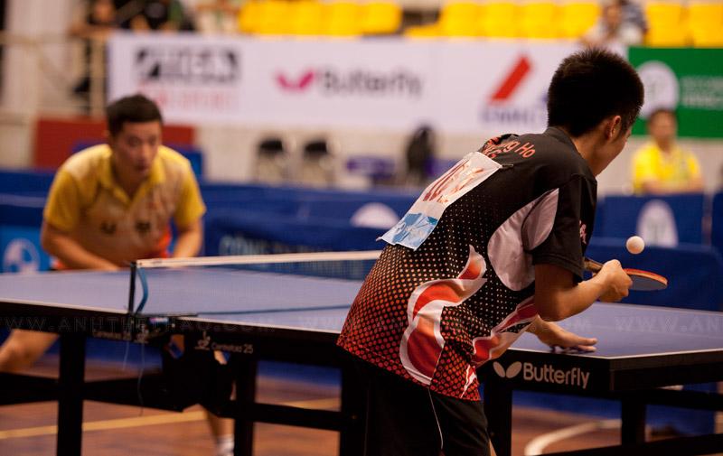 Trận tứ kết giữa 2 tay vợt Hong Kông và Hàn Quốc