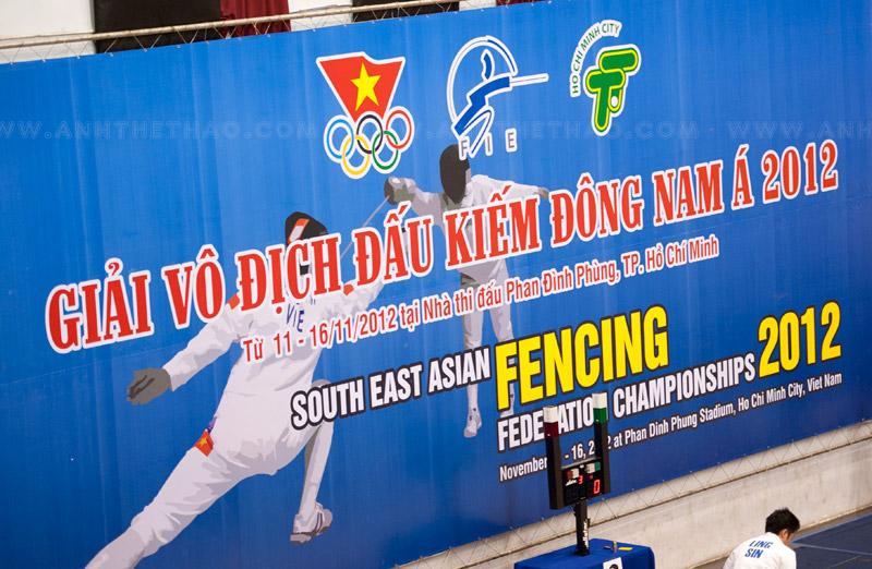Lịch thi đấu Giải vô địch Đấu kiếm Đông Nam Á 2012
