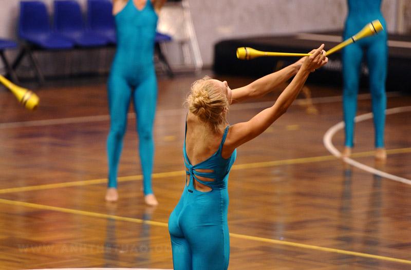 Tiết mục biểu diễn đặc trưng của thể dục dụng cụ