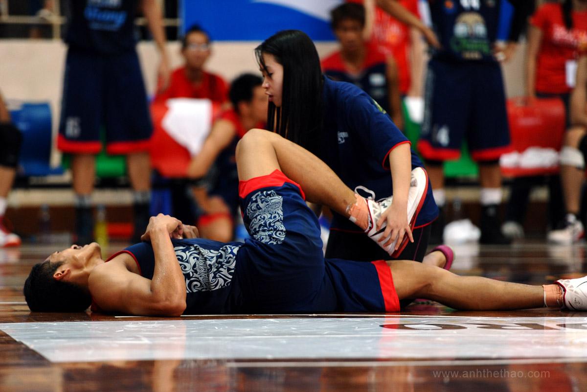 Một cầu thủ bị chấn thương
