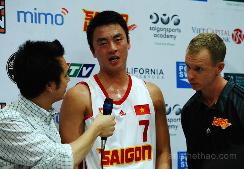 Saigon Heat trả lời phỏng vấn sau trận đấu