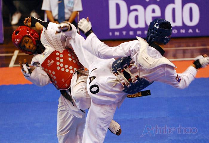 Pha tấn công của võ sĩ Lào
