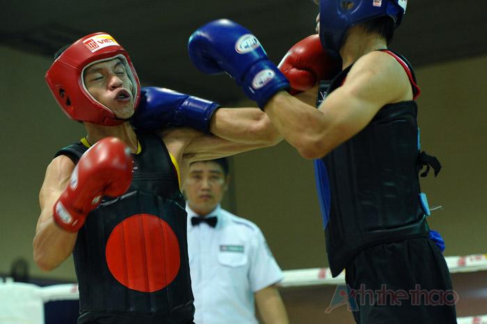 Hoàng Minh Anh (giáp đỏ) vs Huỳnh Đức Hùng (giáp xanh)