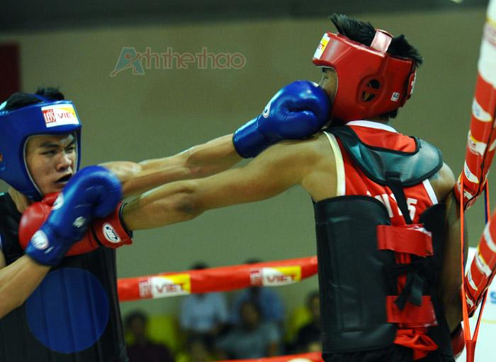 Phạm Tiến Hải (giáp xanh) vs Phạm Nhật Thanh (giáp đỏ)