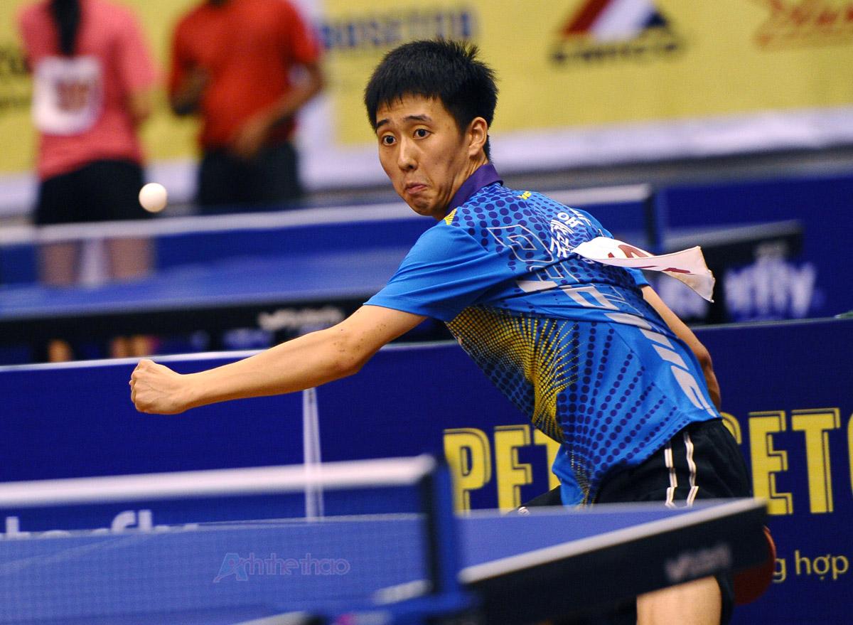 Màu xanh khá được ưa chuộng trong bóng bàn - Tay vợt Hàn Quốc