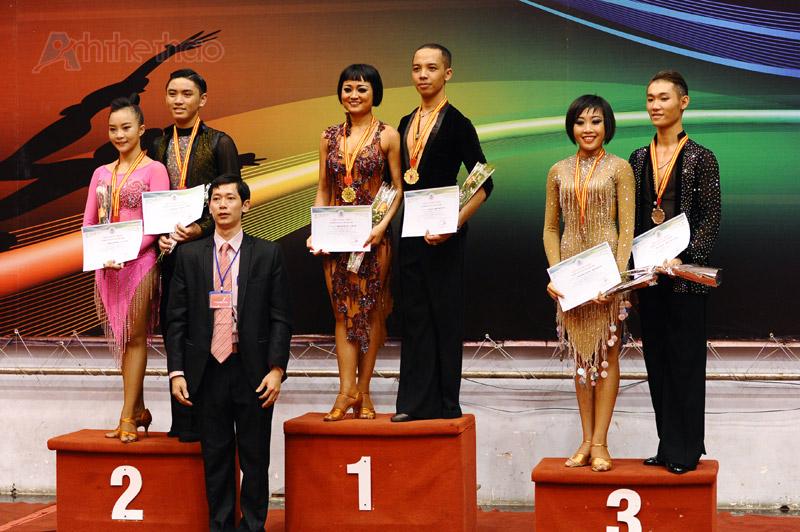 Khánh Thi Dancesport  dành cả 3 giải thưởng với vũ điệu Latin