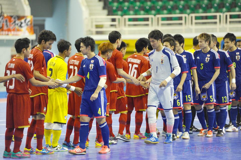 Trận đấu giữa đội tuyển Thái Lan và Nhật bản