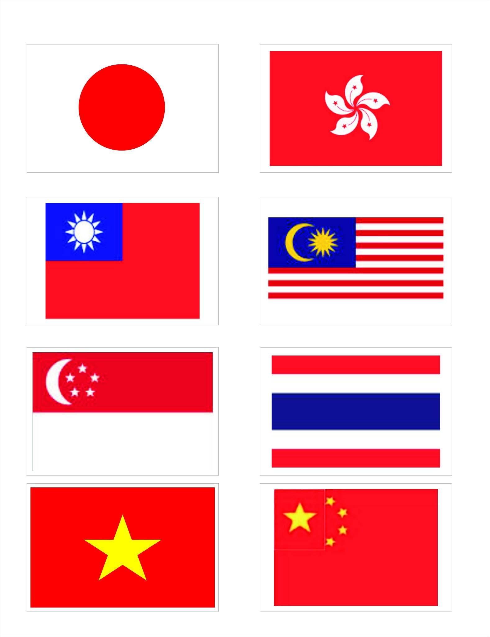 Các nước tham gia Giải khiêu vũ Việt Nam mở rộng 2014