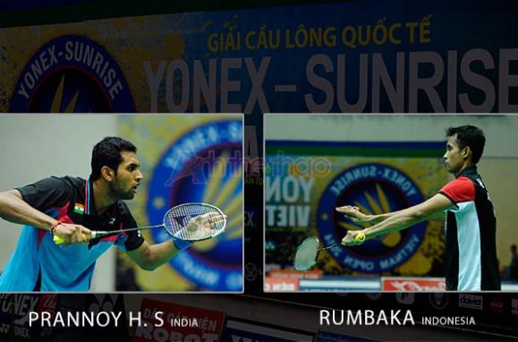Rumbaka (Indonesia) vs Prannoy H. S. (India)