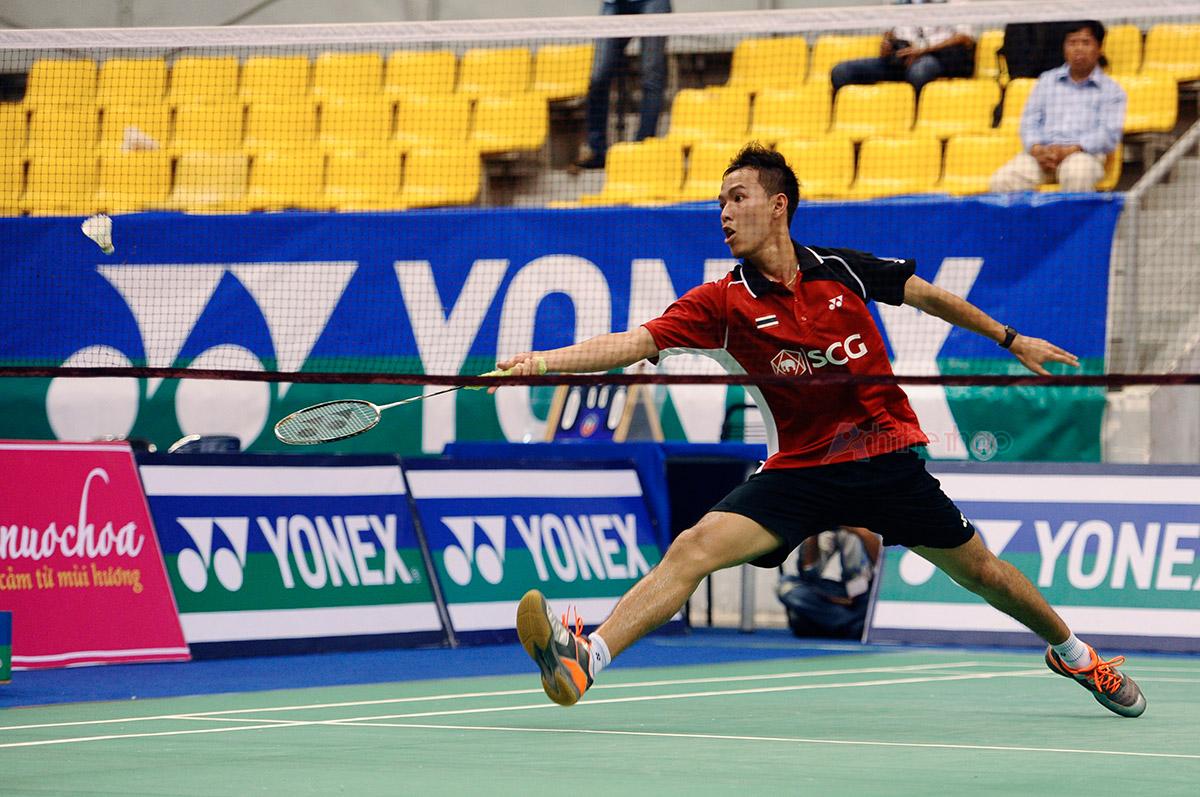 Tay vợt Thailand gây nhiều khó khăn cho Tiến Minh