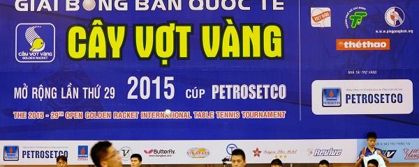 Lịch thi đấu giải bóng bàn Cây Vợt Vàng 2015