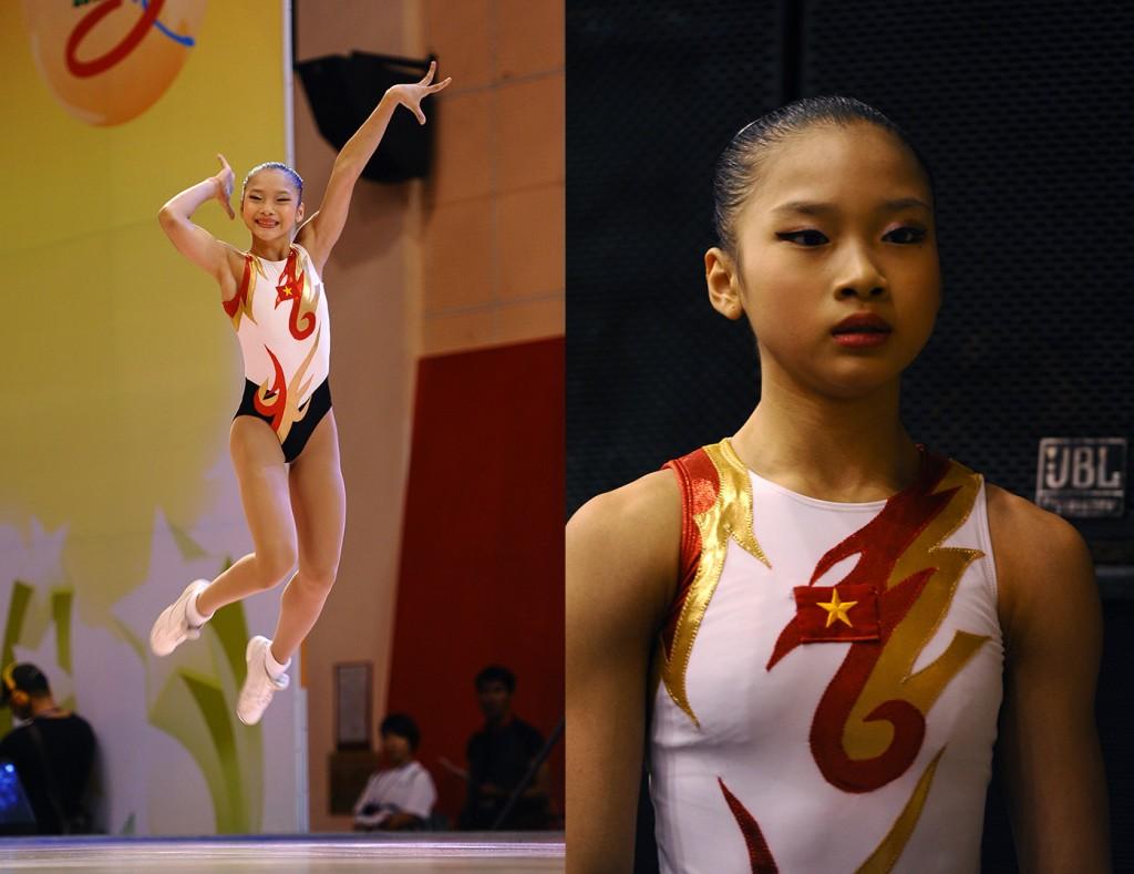 Nét mặt lo lắng của VĐV Việt Nam tại hậu trường khác hẵn sự rạng rỡ trên sàn đấu