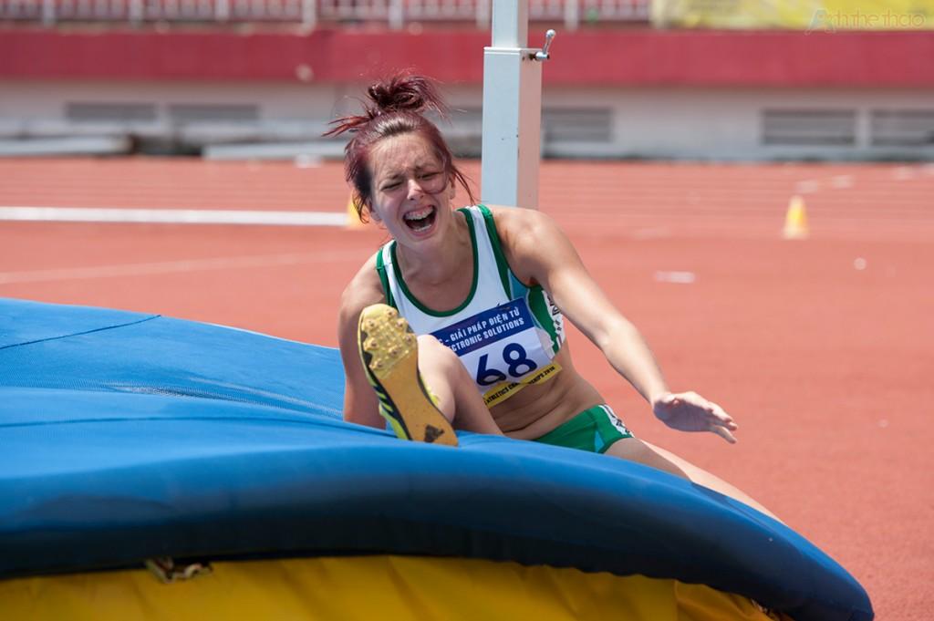 Yurkevskaya Aleksandra thấp vọng sau lần nhảy hỏng thứ 2