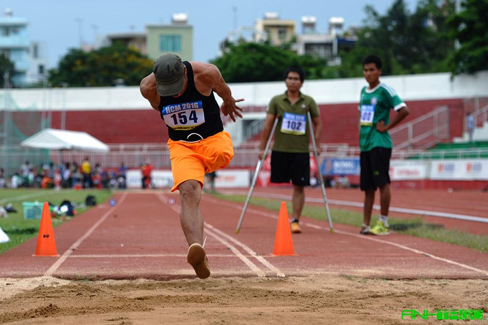 Nhảy xa - Giải thể thao người khuyết tật toàn quốc năm 2016