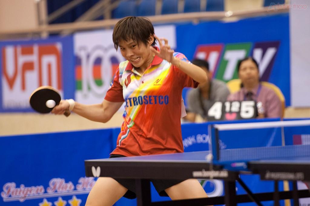 Zhao Lin tỏ ra đuối sức ở set đấu đầu tiên