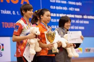 Chung kết đơn nữ: Petrosetco - Hongkong: 1-4