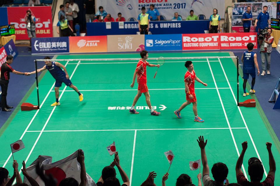 Nhật Bản dành chiến thắng ở trân đôi nam