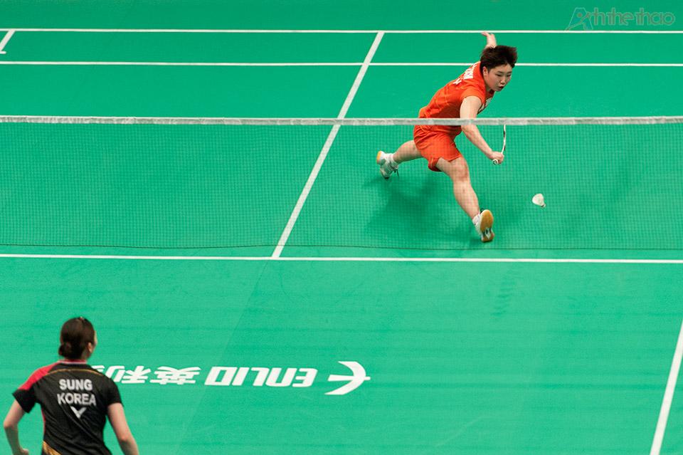 Trận đấu đơn nữ diễn ra vô cùng kịch tính giữa tay vợt Nhật Bản Akane Yamaguchi và tay vợt Hàn Quốc Sung Ji Hyun