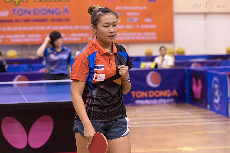 Tay vợt Thái Lan trong đêm chung kết đồng đội