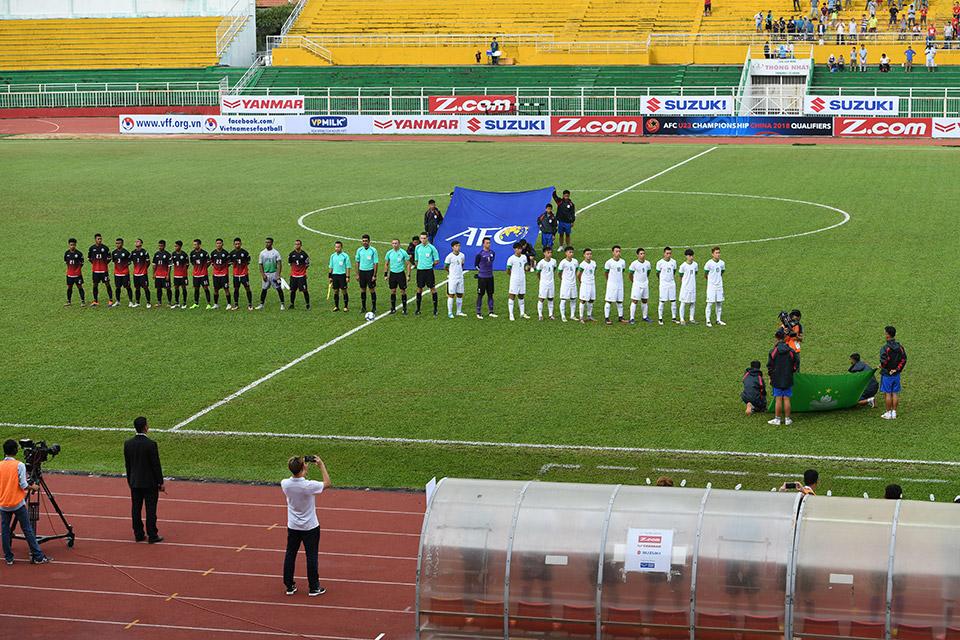 Trận đấu giữa Macau vs Đông Timor