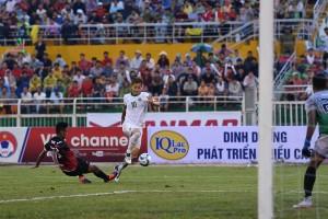 Pha tấn công hiếm hoi của U23 Macau