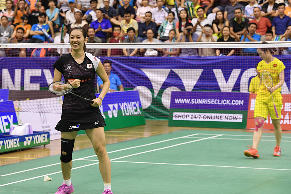 Cuối cùng Trang đành gát vợt với các tỉ số 21-9 và 21-14