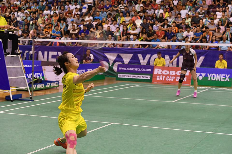Trang khá vất vả trước tay vợt Nhật