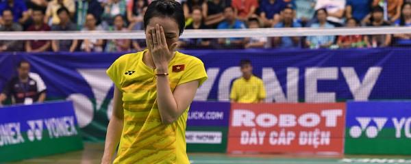 Chênh lệch trình độ và yếu tâm lý, Trang không có bất cứ cơ hội nào trước hạt giống số 1 Sayaka Takahashi (Nhật)
