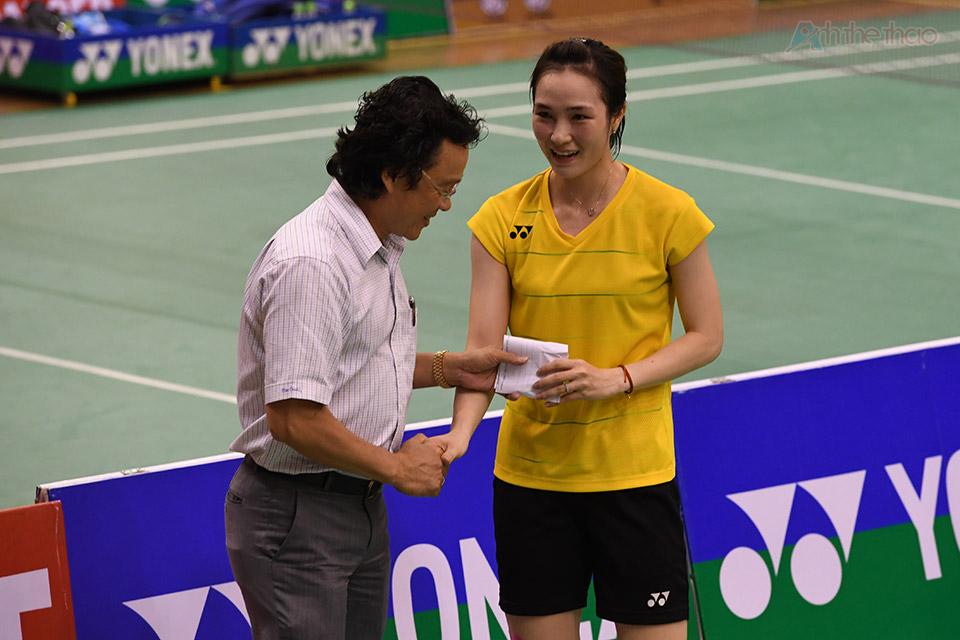 Trang được thưởng nóng 20 triệu ngay sau trận đấu