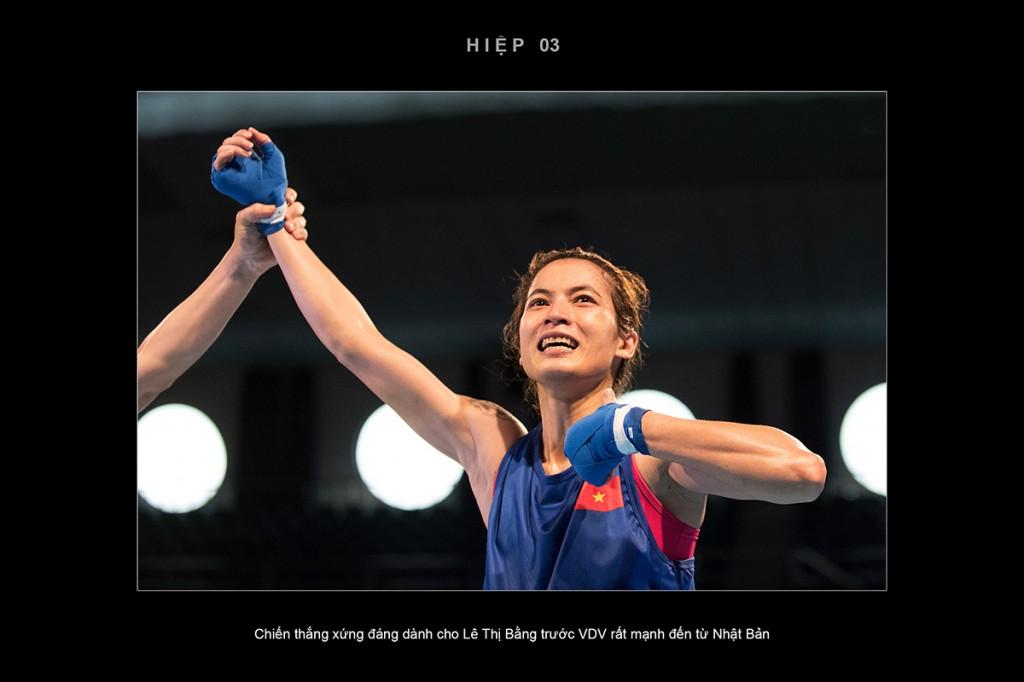 Chiến thắng xứng đáng dành cho VĐV Lê Thị Bằng trước đối thủ rất mạnh đến từ Nhật Bản