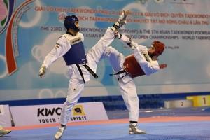 Đòn chân tuyệt đẹp của võ sĩ Iran