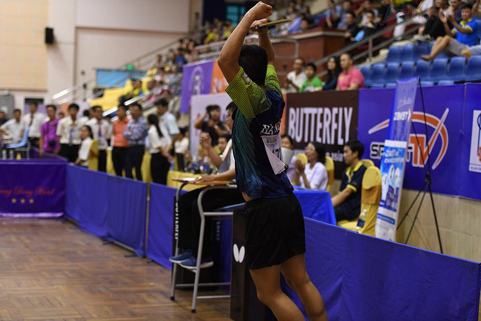 Nguyễn Trung Kiên vui mừng khi dành chiến thắng